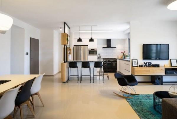 дизайн гостиной объединённой с кухней квартира студия