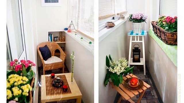 дизайн интерьера маленького балкона в хрущёвке