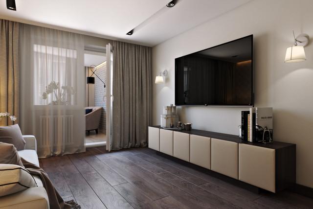 дизайн гостиной с балкном фото