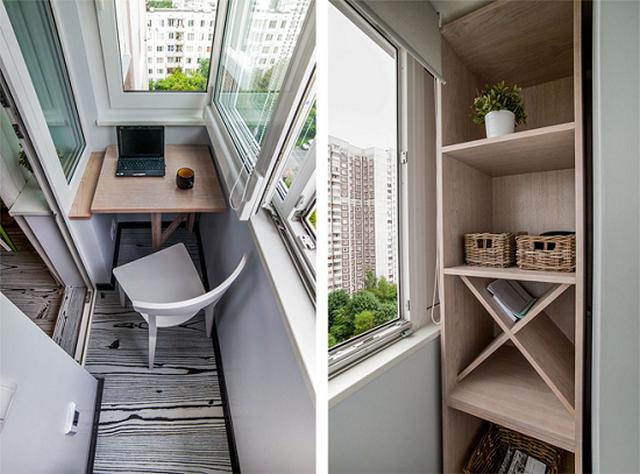 дизайн интерьера красивого балкона