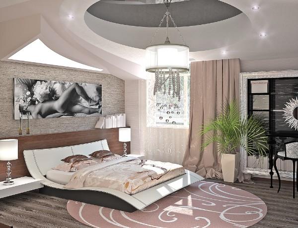 эффектный совремнный дизайн интерьера спальни