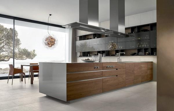 эффектный современный дизайн кухни
