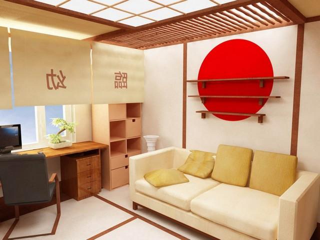 гостиная в азиатском стиле