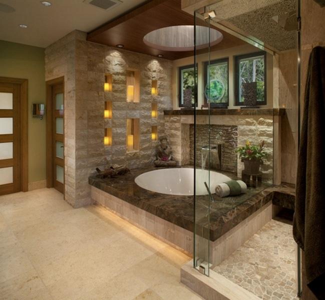 идея для ванной комнаты в японском стиле