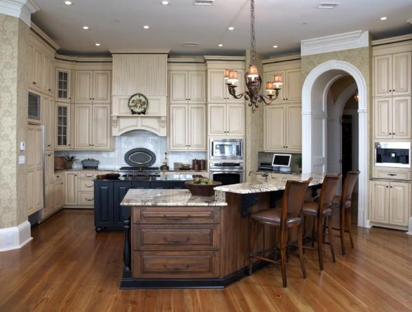 классический современный дизайн интерьера кухни 2018