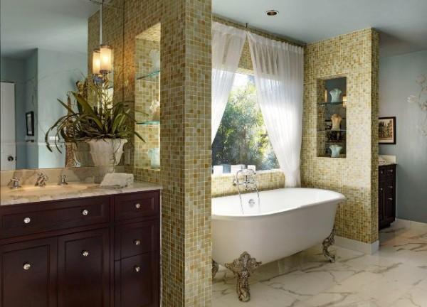 классический современный дизайн интерьера ванной