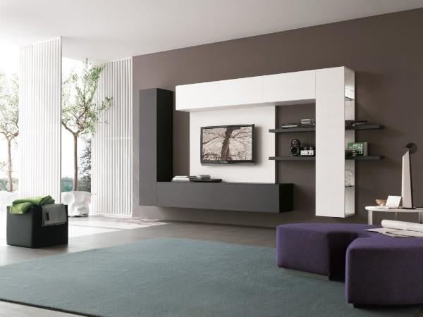 красивый интерьер современной гостиной