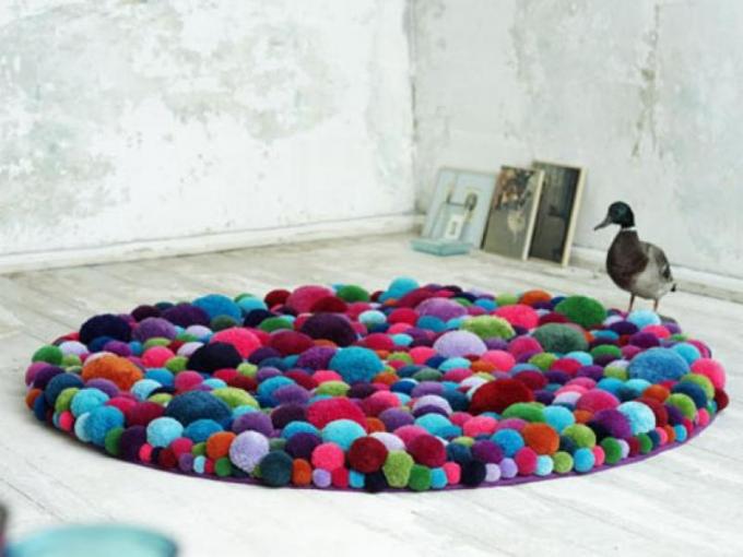 красивый коврик в ванную