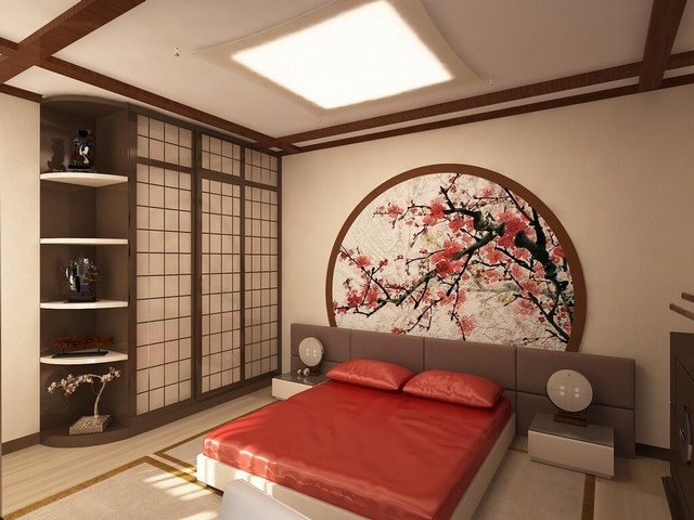 кровать с татами в японском стиле