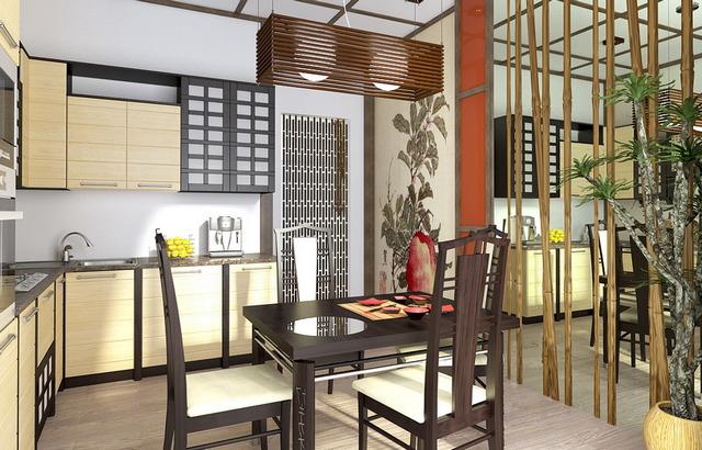 кухння бамбук и сакура