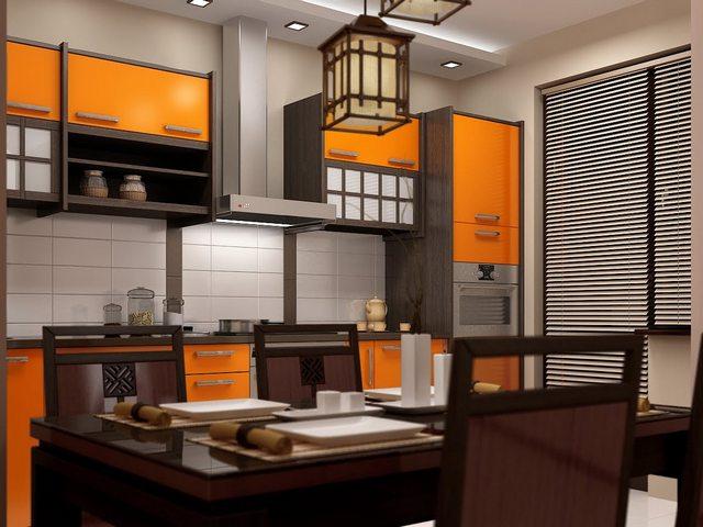 кухонный фасад в японском стиле
