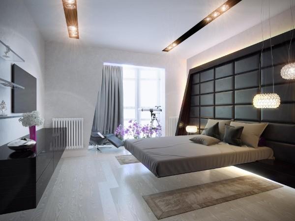 минималистический современный дизайн интерьера спальни