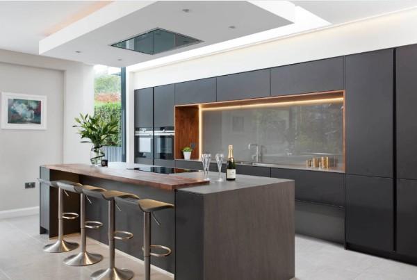 необычный современный дизайн интерьера кухни