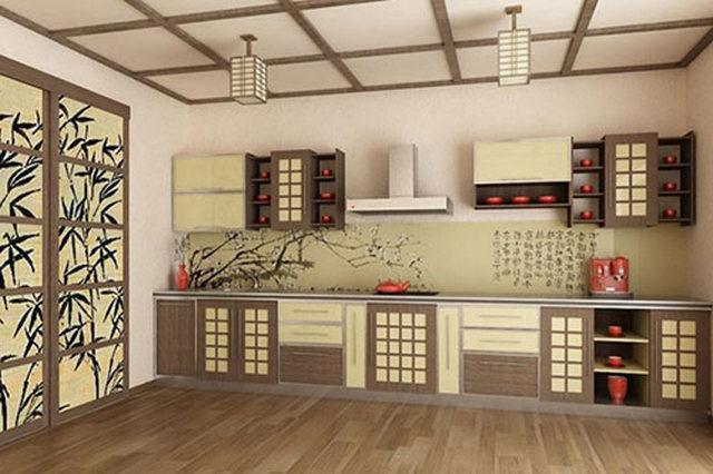 оформление кухни в восточном стиле