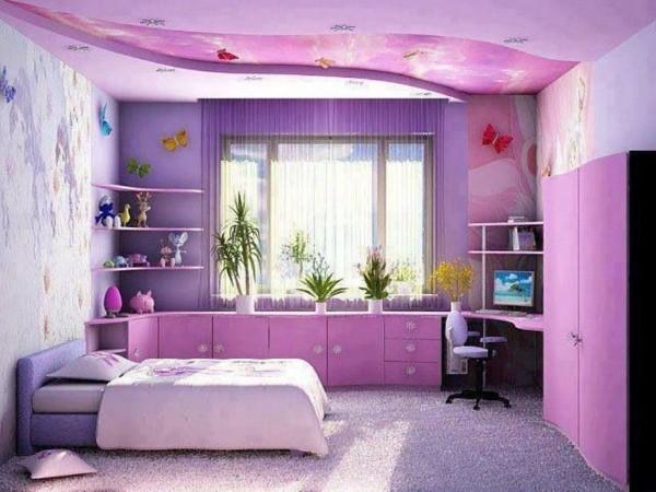 оформление растениями интерьера детской комнаты