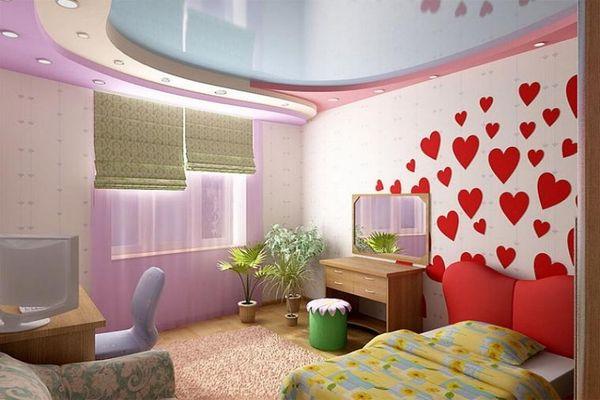 оригинальный декор комнаты для девочки