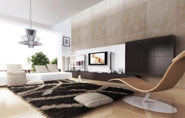 просторный современный дизайн интерьера гостиной 2018 минимализм