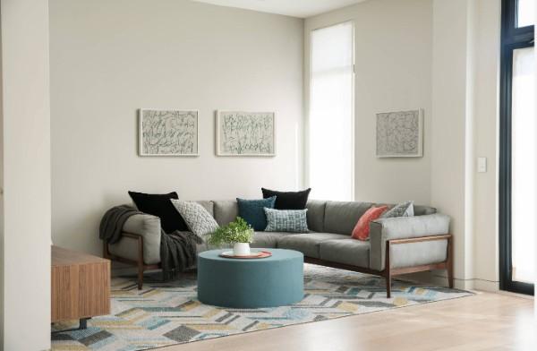 современный дизайн интерьера гостиной минималистический