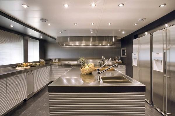 современный дизайн интерьера кухни с островом
