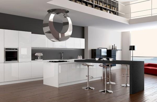 современный дизайн кухни в стиле хай-тек
