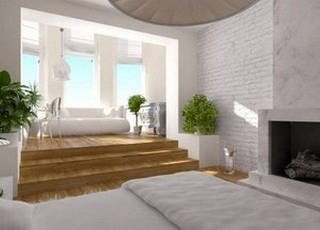 спальни с балконом или лоджией