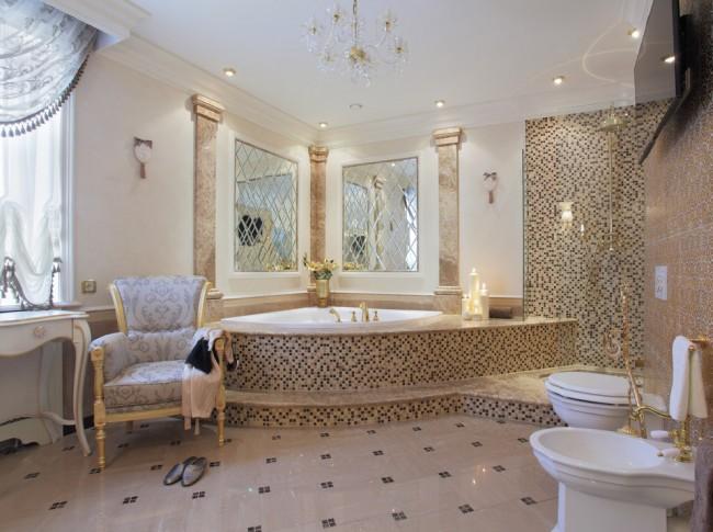 стильная ванна в доме фото