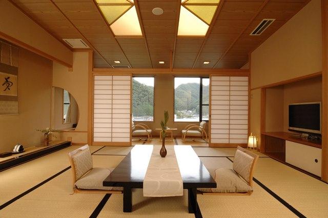 японский стиль в гостиной