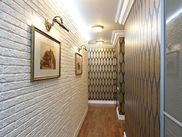 дизайн длинного коридора фото