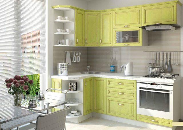 дизайн маленькой угловой фото кухни