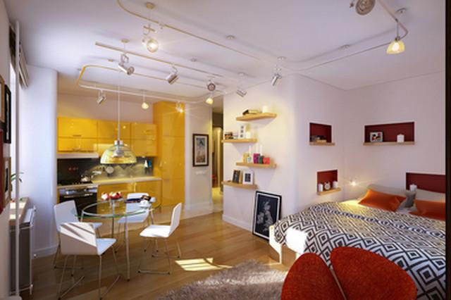 дизайн проект однокомнатной квартиры 35 кв.