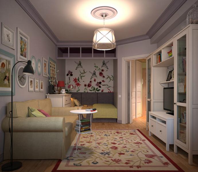 дизайн проект однокомнатной квартиры 38