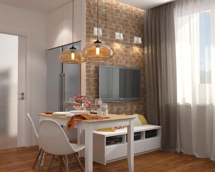 дизайн проект однокомнатной квартиры 40 кв.