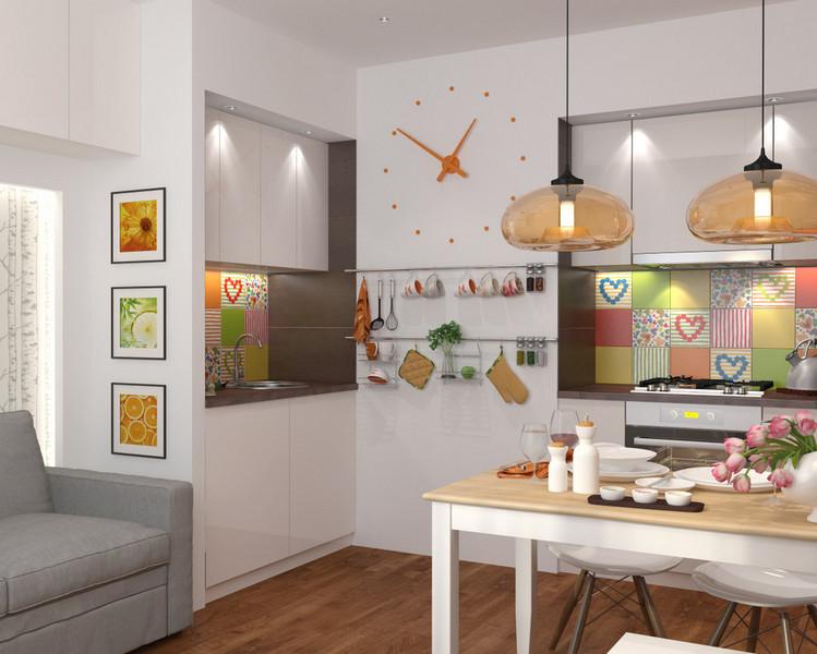 дизайн проект однокомнатной квартиры 41 кв.м.
