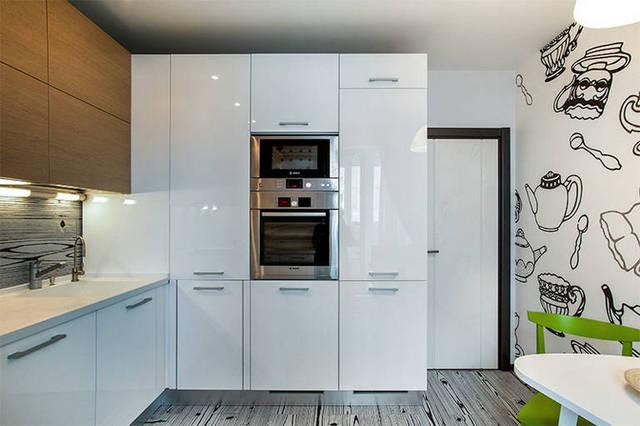 дизайн угловой кухни 12 кв