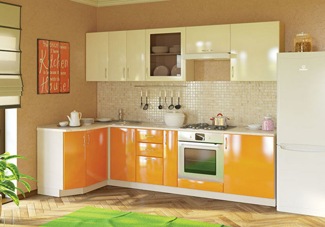 дизайн угловой кухни 9 фото