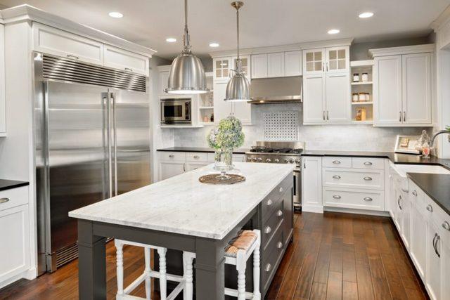 дизайн угловой кухни 9 кв