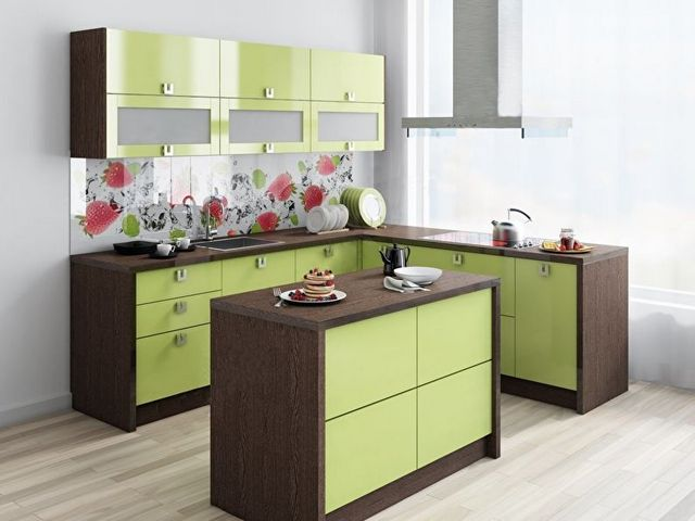 дизайн угловой кухни 9