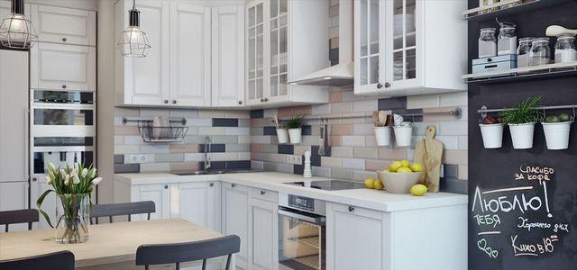 фото идеи дизайн угловой кухни с барной стойкой