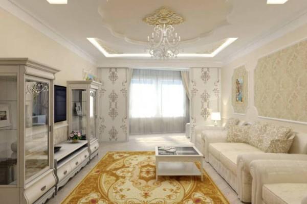 гостиная в классическом стиле где мало света