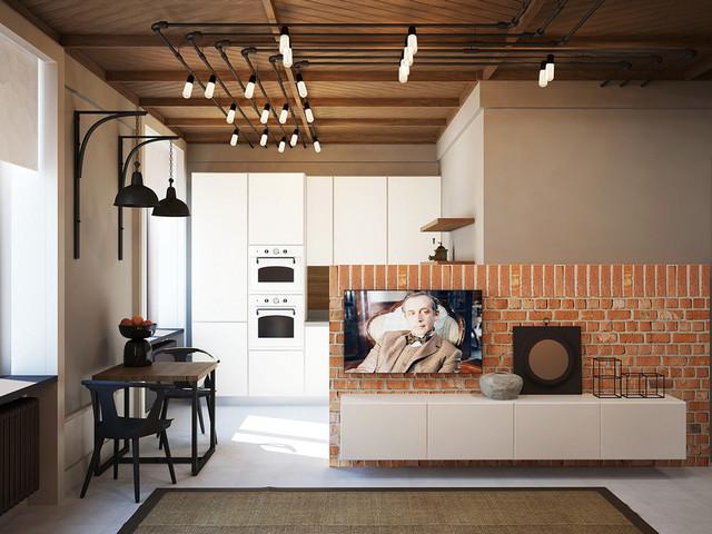 готовый дизайн проект однокомнатной квартиры