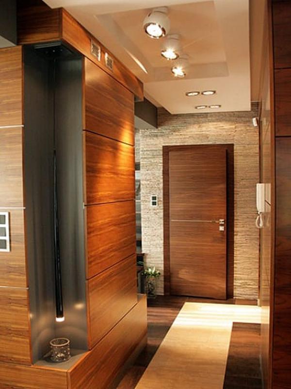 коридор обои дизайн фото