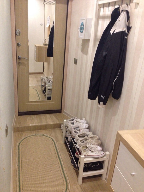 коридор обои дизайн