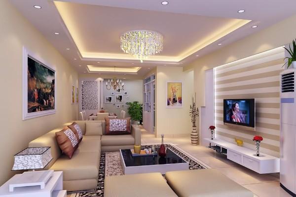 многоуровневое освещение гостиной где мало солнечного света