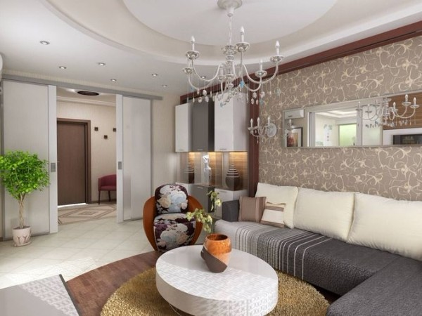 оригинальный дизайн гостиной где мало солнечного света