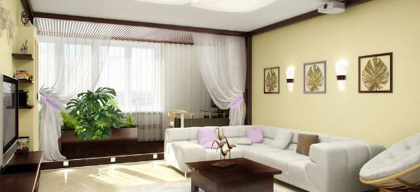 оригинальный интерьер гостиной где мало света
