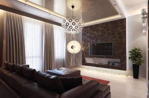 темные обои и белый пол в гостиной если мало солнечного света