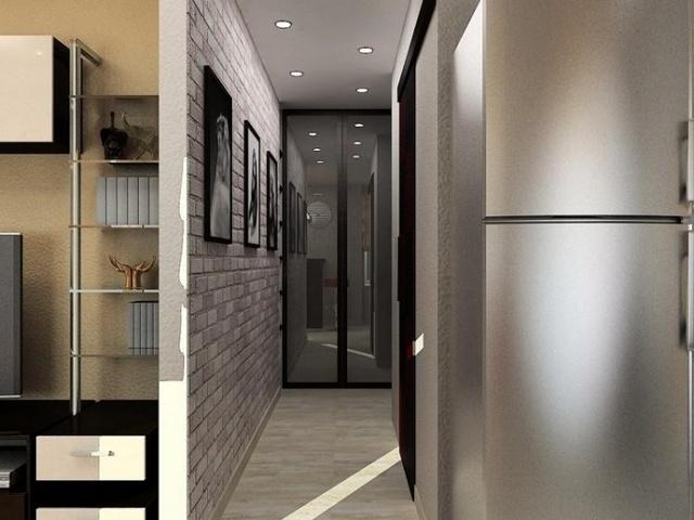 узкие коридоры дизайн