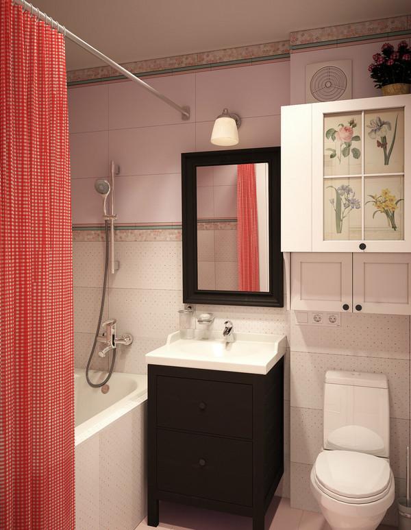 ванная комната в однокомнатной квартире