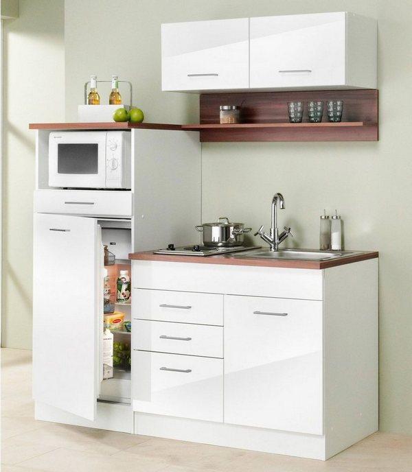 маленький кухонный гарнитур в белом цвете