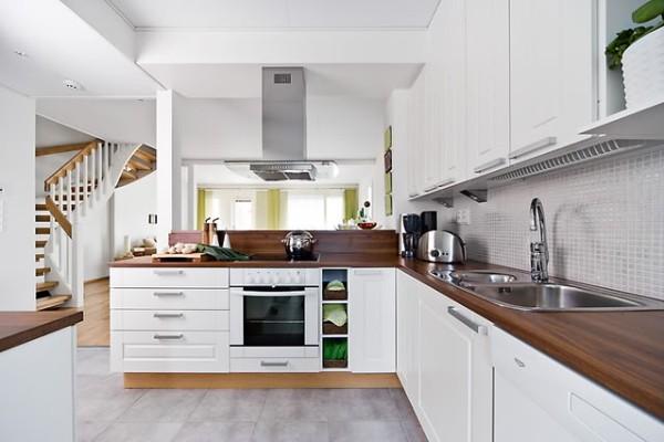 угловой кухонный гарнитур для кухни скандинавский стиль